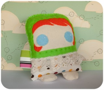 green jumper, felt, DIY, plush, redhead, plushie, softie, ginger