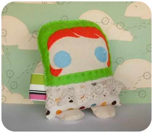 green jumper, felt, DIY, plush, redhead, plushie, softie, ginger