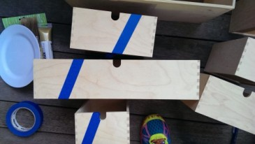 Ikea, Moppe, wood drawers, paint, DIY, gold, lavendar, jewelry chest