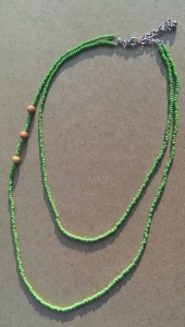 seed beads, necklace, glass beads, wood beads, multi strand