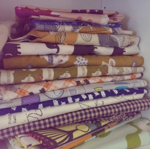 fabric stash, craft room, unorganised, so much pretty fabric