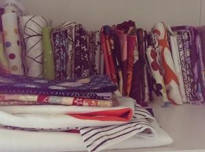 Fabric stash, fat quarters, Amy Butler, IKEA, craft room, unorganised