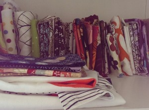 Fabric stash, fat quarters, Amy Butler, IKEA, craft room, unorganised