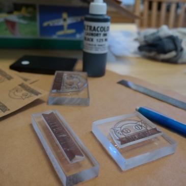 stamping, branding, ink, product branding, kraft-tex