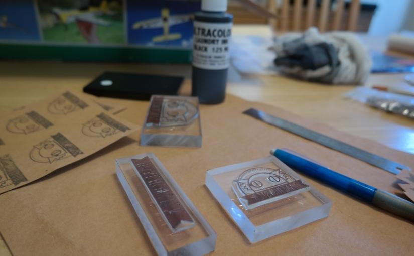 Testing Kraft-Tex with Waterproof Ink & Stamping, DIY Sew-In Labels (Kraft-Tex TestingV2)