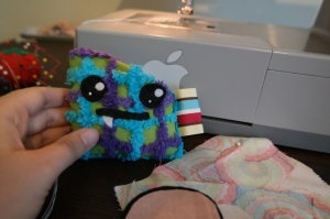 crafting, sewing, DIY, plushie, monster, felt