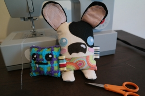 unfinished projects, plushies, felt, crafting, DIY, sewing