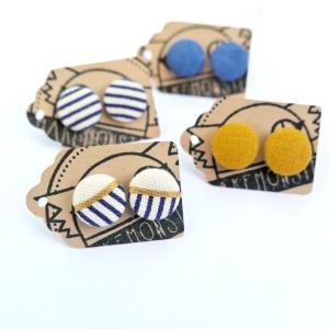 Button earrings on button earrings!