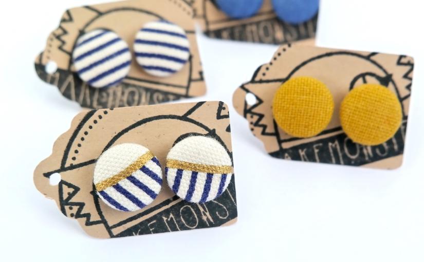 Button Earrings!